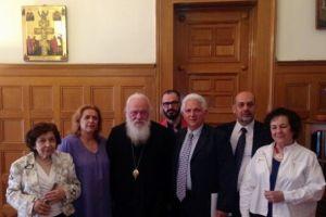 Το Δ.Σ. του Συλλόγου Ρεθυμνίων Αττικής «Το Αρκάδι» στον Αρχιεπίσκοπο