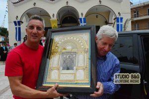 Αναχώρησε η θαυματουργή εικόνα της Παναγίας της Παντανάσσης απο Ναύπλιο