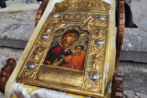 Η εικόνα της Παναγίας Σουμελά στον Ιερό Ναό του Στρατοπέδου Παπάγου