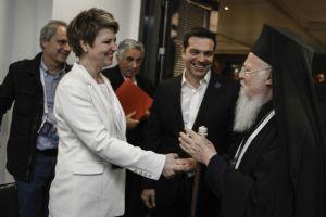 Ζεστό τετ-α-τετ  του Οικ.Πατριάρχη Βαρθολομαίου με τον πρωθυπουργό Αλέξη Τσίπρα