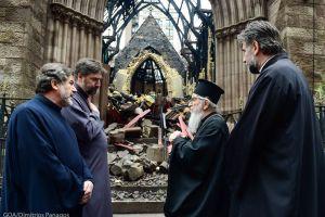 Τον σερβικό ναό που κάηκε ολοσχερώς στη Νέα Υόρκη  επισκέφθηκε ο  Αμερικής Δημήτριος