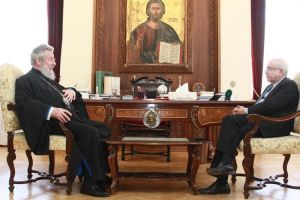 Συνάντηση Αρχιεπισκόπου Κύπρου και Προέδρου της Βουλής