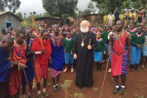 Ο Πατριάρχης Αλεξανδρείας Θεόδωρος κοντά  στους Ορθοδόξους της φυλής των Μασάι στην Κένυα