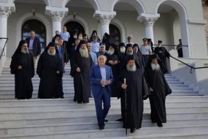 Ο Υφυπ. Εξωτερικών Γιάννη Αμανατίδη στο Άγιο Όρος για την αλλαγή φρουράς στη Επιστασία