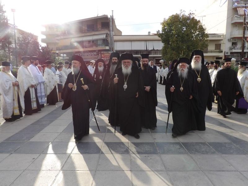 Μέγας Συνοδικός Πολυαρχιερατικός Εσπερινός στην Κόρινθο προς τιμήν του Αποστόλου Παύλου