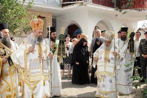 Ο Μητροπολίτης Θεσσαλιώτιδος στην πανήγυρη της Ι. Μονής Αγ. Τριάδος Εδέσσης