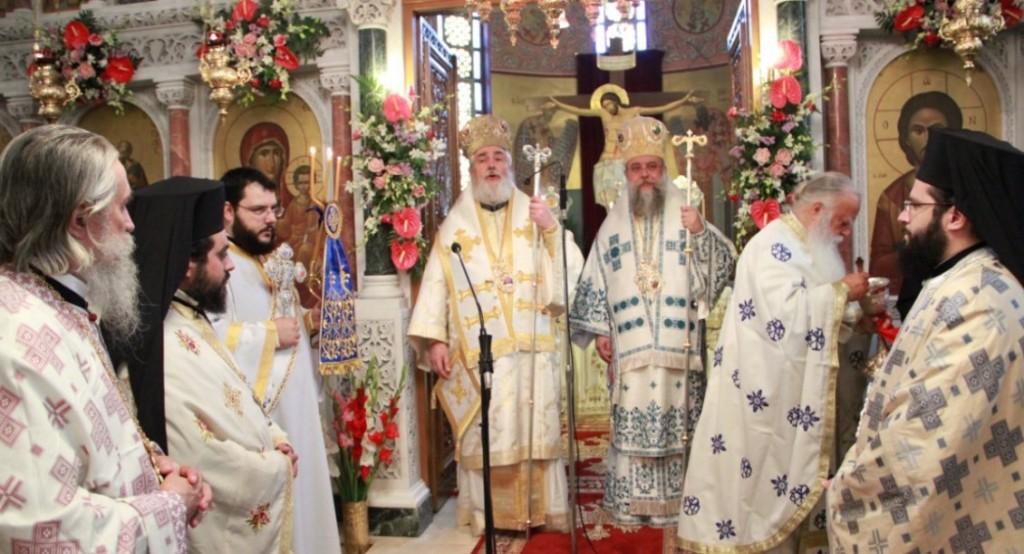 You are currently viewing Αρχιερατικό συλλείτουργο στους Αγίους Αποστόλους Πεύκης