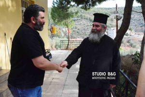 Επίσκεψη του Γιάννη Σταθά , μέλους του ΛΑΕ, στο συσσίτιο της Ευαγγελίστριας Ναυπλίου