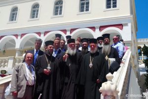 Τον εορτάζοντα Μητροπολίτη Σύρου επισκέφθηκε και ευχήθηκε ο Αρχιεπίσκοπος και ο Ν. Ιωνίας