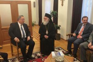 Συνάντηση ΥΠΕΞ κ.Κοτζιά με  Αρχιεπίσκοπο Αλβανίας Αναστάσιο