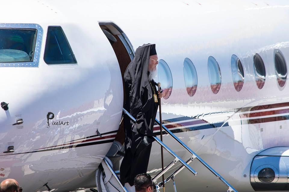 Η άφιξη του Οικουμενικού Πατριάρχη στα Χανιά σε εικόνες