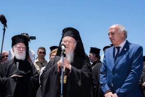 """Ο Πατριάρχης Βαρθολομαίος από τα Χανιά: """"Εύχομαι οι Εκκλησίες να αναθεωρήσουν την απόφασή τους"""""""