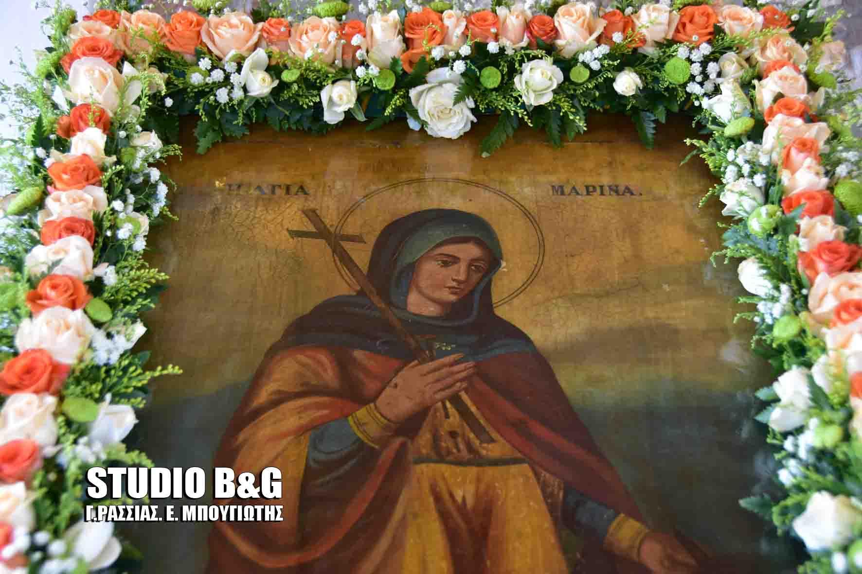 Ο Ίναχος Άργους τίμησε τη μνήμη της Αγίας Μαρίνας