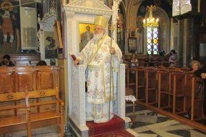 Ο Βρεσθένης Θεόκλητος στον Άγιο Λουκά Λειβαδίων Χίου