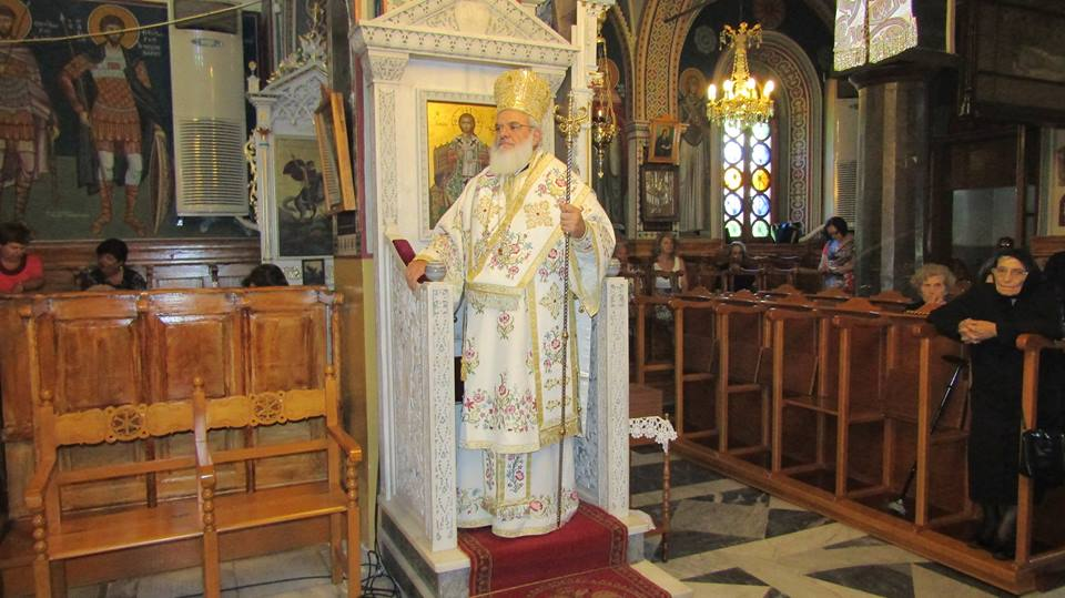You are currently viewing Ο Βρεσθένης Θεόκλητος στον Άγιο Λουκά Λειβαδίων Χίου