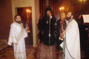 Ο Θεσσαλιώτιδος Τιμόθεος στον Ιερό Ναό του Αγίου Σπυρίδωνος στην Κέρκυρα