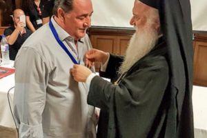 Ο Βασίλης Καρράς τιμήθηκε στην Παναγία Σουμελά