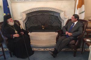 Συνάντηση του Πατριάρχη Αλεξανδρείας με τον Πρόεδρο της Κυπριακής Δημοκρατίας