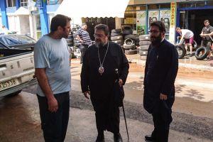 Ο Μητροπολίτης Μεσσηνίας κοντά στους πληγέντες από τη θεομηνία