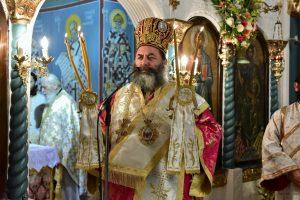 Αρχιερατική Θεία Λειτουργία,εις τον Ιερό Ναό του Αγίου Δημητρίου Χρυσαυγής