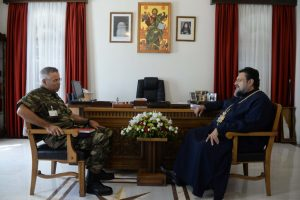Στον Μητροπολίτη Μεσσηνίας ο νέος Διοικητής του 9ου Συντάγματος Πεζικού