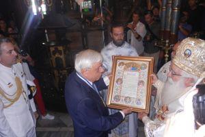 Πρόεδρος της Δημοκρατίας: «Ιστορική αλήθεια ο ιδιαίτερος δεσμός Ορθοδοξίας και Έθνους».Η Μητρόπολη Δημητριάδος τίμησε τον κ. Προκόπη Παυλόπουλο