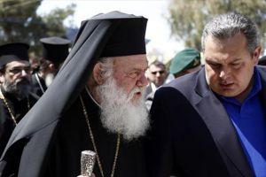Στήριξη Καμμένου σε Αρχιεπίσκοπο χωρίς κυβερνητικό αντίκρυσμα