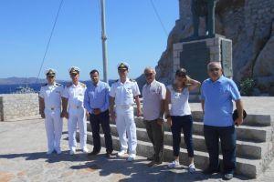 Υποδοχή πλοίου του Πολεμικού Ναυτικό για τις εορταστικές εκδηλώσεις «Κουντουριώτεια 2016» στην Ύδρα