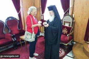 Η Lena Carrer επισκέφθηκε το Πατριαρχείο Ιεροσολύμων