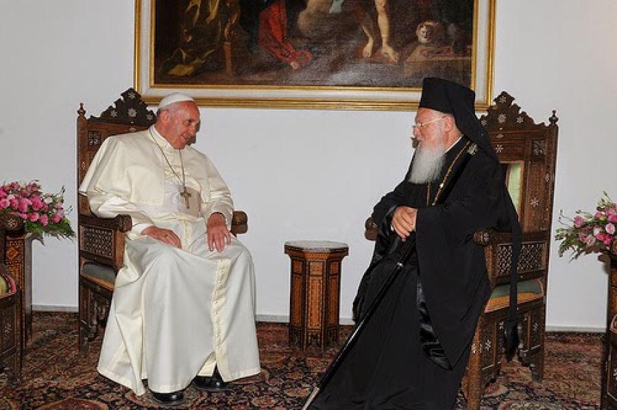 Το τερμάτισε ο Πάπας! Ενωμένοι με τους Ορθοδόξους-Αδελφός μου ο Πατριάρχης  Βαρθολομαίος