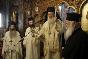 Ο Αρχιεπίσκοπος στη Μονή Πεντέλης μαζί με συμμαθητές του
