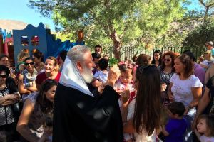 Αγιασμός επί τη έναρξει μαθημάτων του Παιδικού Σταθμού της Ι.Μ. Σύρου