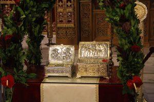 Τα Ιερά Λείψανα των Αγίων Δημητρίου του Μυροβλύτου και Εφραίμ του θαυματουργού στο Καστράκι Φωκίδος