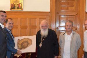 Τα μέλη του Κέντρου Θηβαϊκού Πολιτισμού τίμησαν τον Αρχιεπίσκοπο