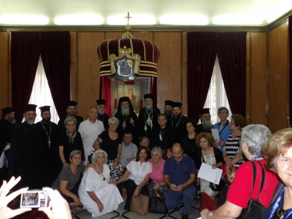 Προσκυνηματική επίσκεψη του Κορίνθου Διονυσίου και προσκυνητών από την Κορινθία στην αγία γη των Ιεροσολύμων