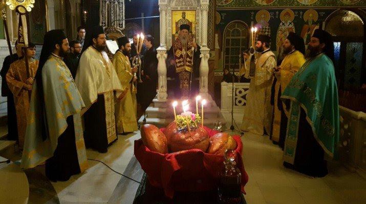 Αγρυπνία στη Λάρισα για την Αγία Αναστασία τη Ρωμαία