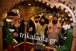 Λαμπρή υποδοχή της Τιμίας Κάρας του Αγίου Ραφαήλ στα Τρίκαλα