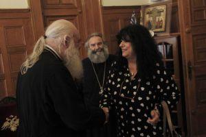 Συνάντηση της Άννας Βαγενά με τον Αρχιεπίσκοπο Ιερώνυμο