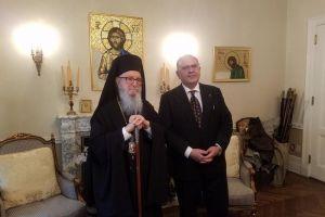 Συνάντηση του Αν.Υπουργού Εξωτερικών Ν.Ξυδάκη με τον Αρχιεπίσκοπο Αμερικής Δημήτριο