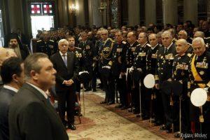 Δοξολογία στη Μητρόπολη Αθηνών για την εορτή των Ενόπλων Δυνάμεων