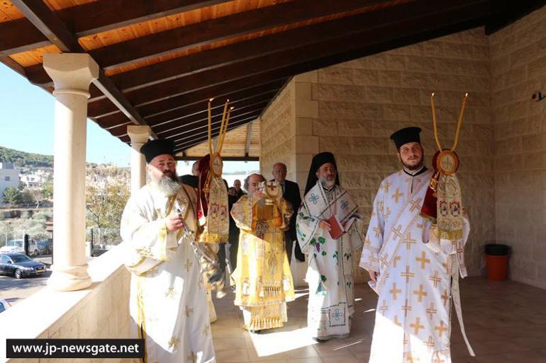 Εγκαίνια Ιερού Ναού από τον Πατριάρχη Ιεροσολύμων