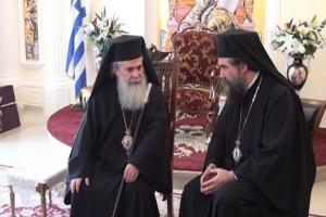 Ο Πατριάρχης Ιεροσολύμων στην Ι.Μ. Σερρών