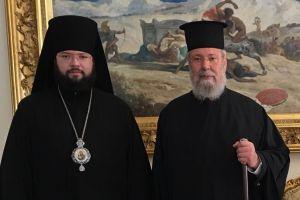Συνάντηση Αρχιεπισκόπου Κύπρου με τον Επίσκοπο Μπογκορόντσκ