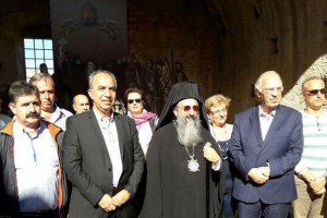Αρχιερατικό Τρισάγιο στην πυριτιδαποθήκη της Μονής Αρκαδίου