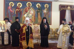 Υποδοχή του Πατριάρχη Σερβίας στην Ιερά Αρχιεπισκοπή Kύπρου