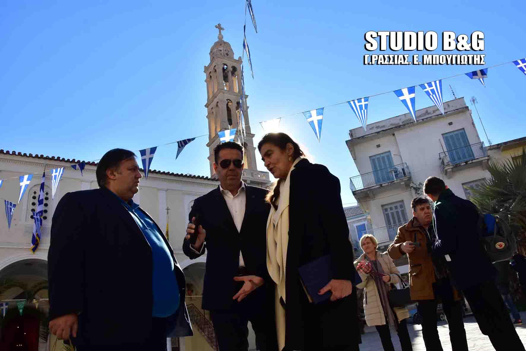 Η Υπουργός Πολιτισμού Λυδία Κονιόρδου στο Ναύπλιο