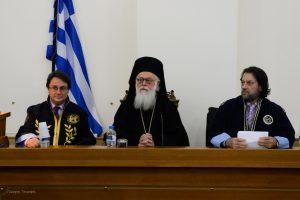 Ο Αρχιεπίσκοπος Αλβανίας επίτιμος Διδάκτωρ του Πανεπιστημίου Πελοποννήσου