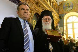 Προσκύνημα του Αρχιεπισκόπου Αλβανίας στην ιστορική Ανδρούσα, τίτλο που έλαβε κατά την χειροτονία του σε Επίσκοπο από τον Ιερώνυμο τον Α ´
