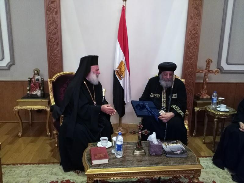 Ο Πατριάρχης Αλεξανδρείας στον Κόπτη Πατριάρχη Θεόδωρο