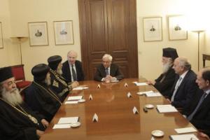 Τον Κόπτη Πατριάρχη υποδέχθηκε ο Πρόεδρος της Δημοκρατίας
